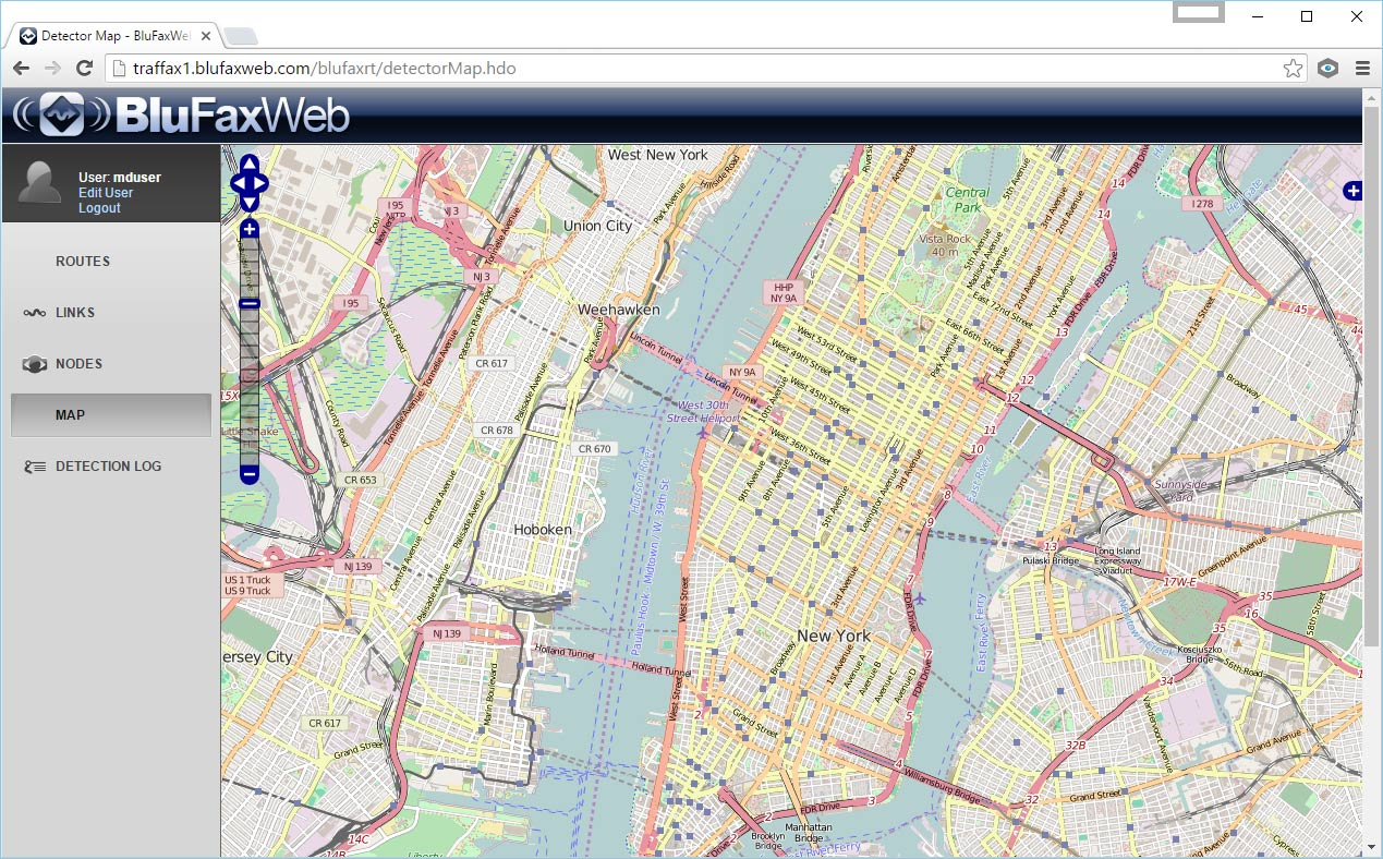 Blue Fax Map